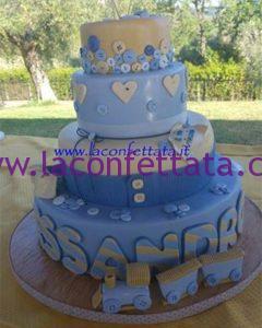 torta battesimo bimbo, torta originale