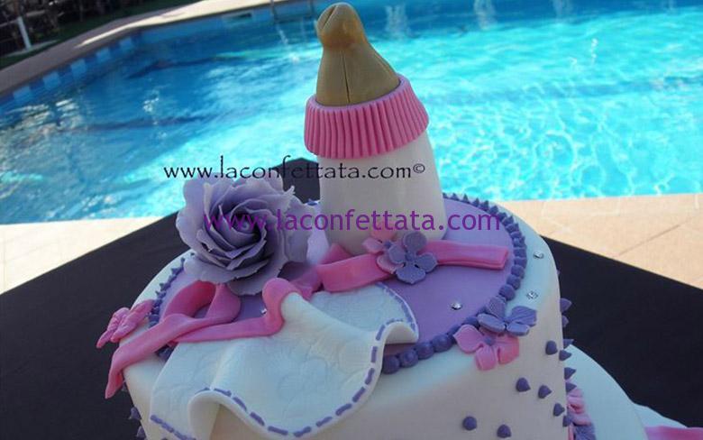 torta battesimo, battesimo bimba, torta a piani battesimo