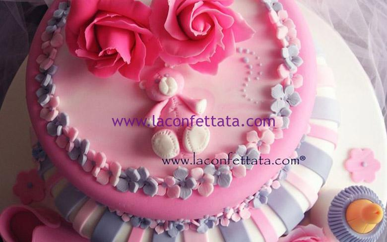 battesimo femmina, torta battesimo