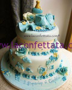 torta battesimo, torta originale, battesimo elegante