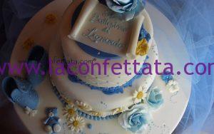 torta elegante battesimo, torta per bambino