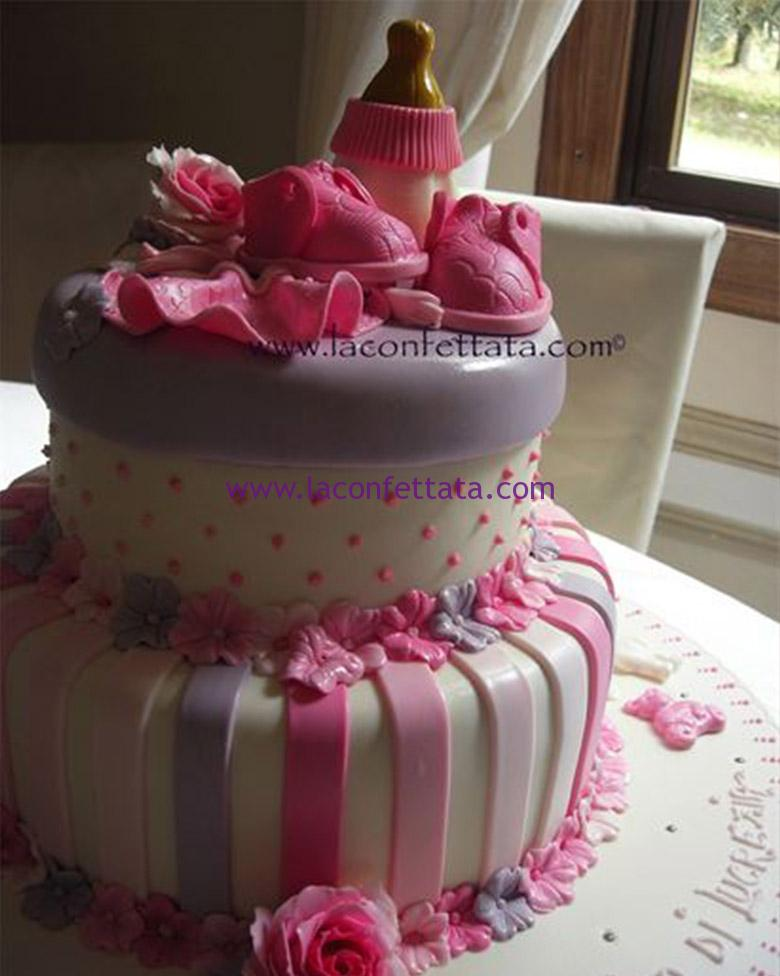 wedding cake battesimo, torta battesimo