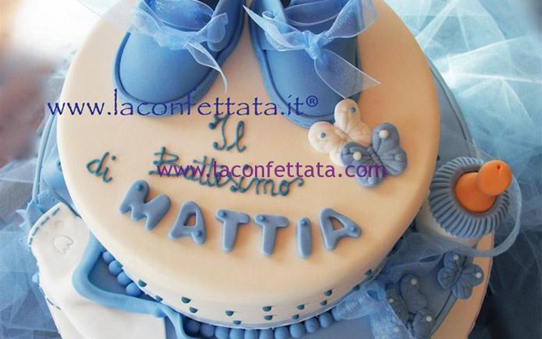 torta battesimo, torta a piani, torta per maschietto