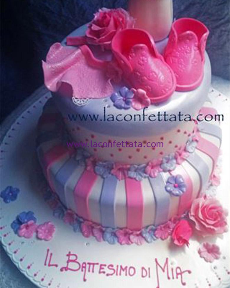 torta a piani, torta battesimo