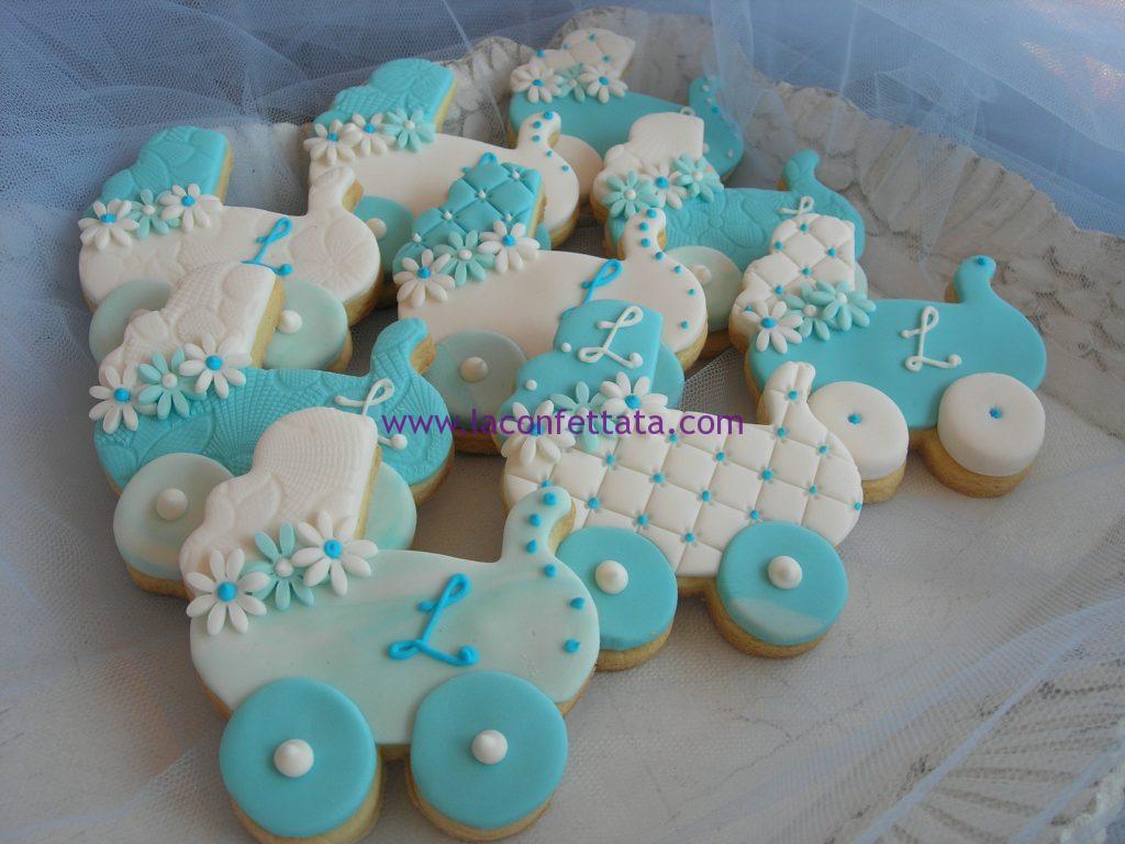 biscotti segnaposto, biscotti nascita, biscotti carrozzina