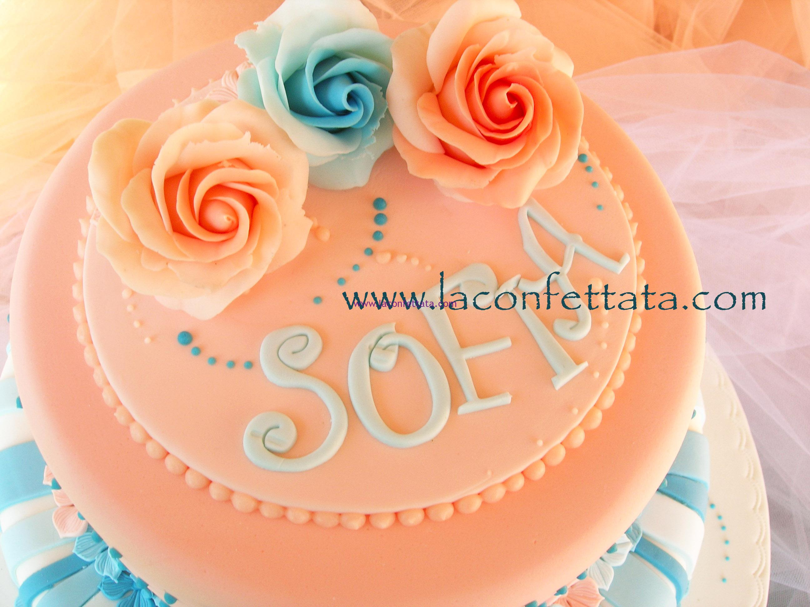 torta comunione, torta elegante