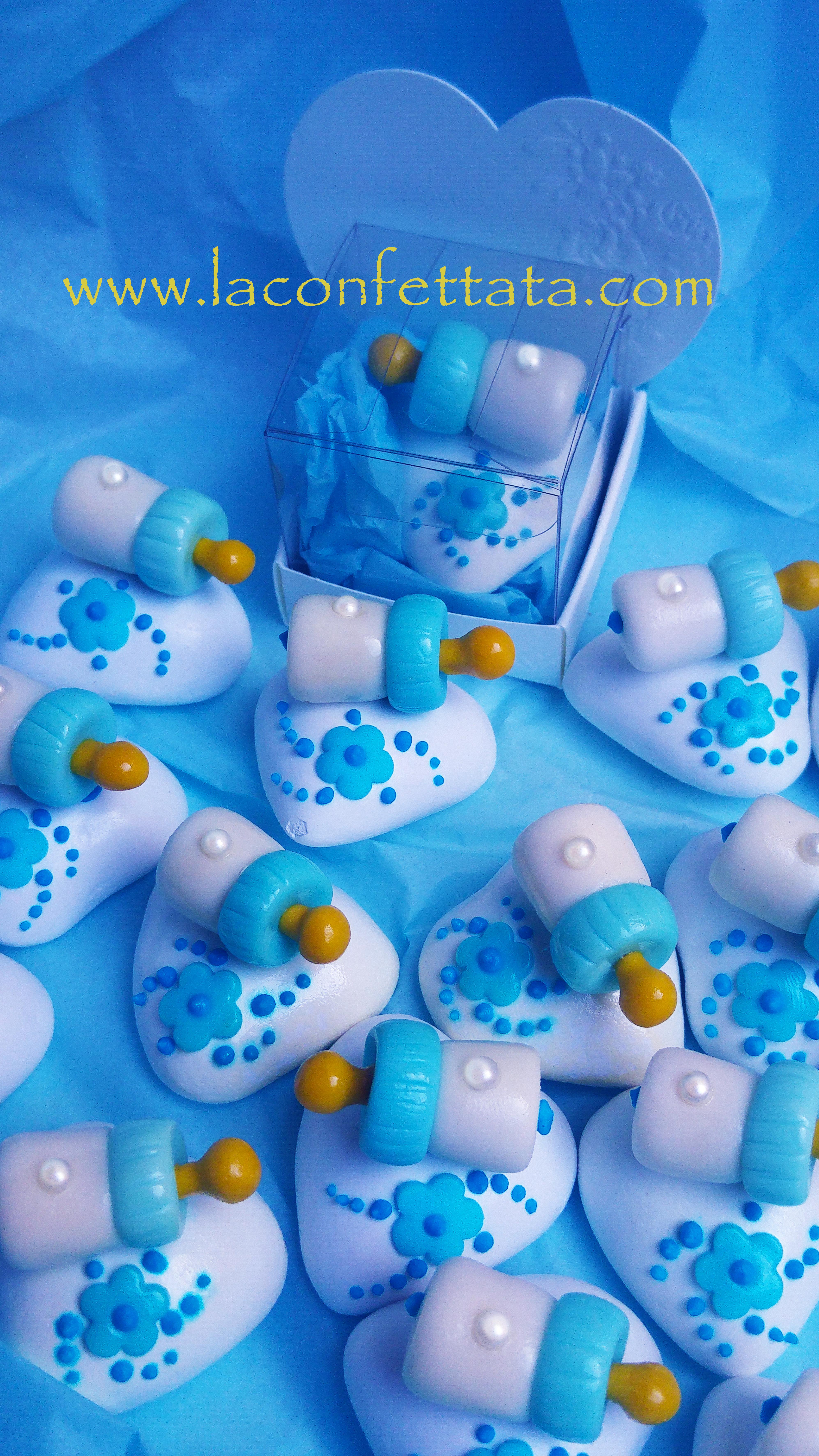 segnaposto confetti decorati baby, segnaposto baby