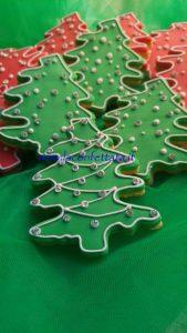 segnaposto natalizi, biscotti alberello natale