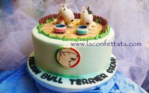 bull terrier's cake, torta bull terrier, torta bulli
