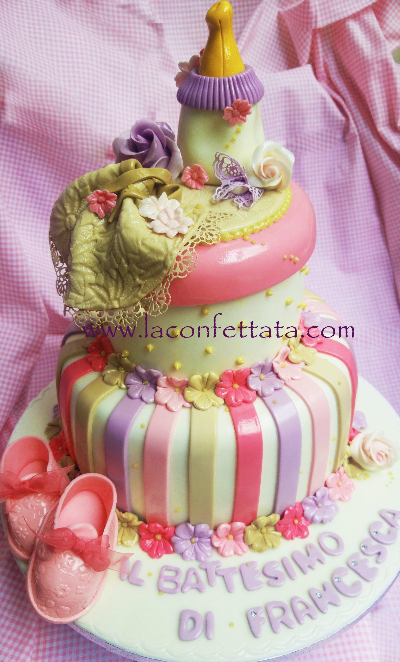 torta battesimo bimba, torta battesimo roma, torta battesimo bambina, battesimo Roma, torta a piani battesimo, torta battesimo elegante, torta battesimo