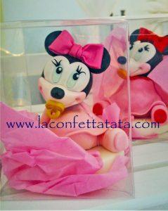 Minnie bomboniera, pupazzetto Disney, Bomboniera Battesimo Minnie Disney