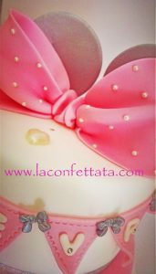 Torta battesimo minnie