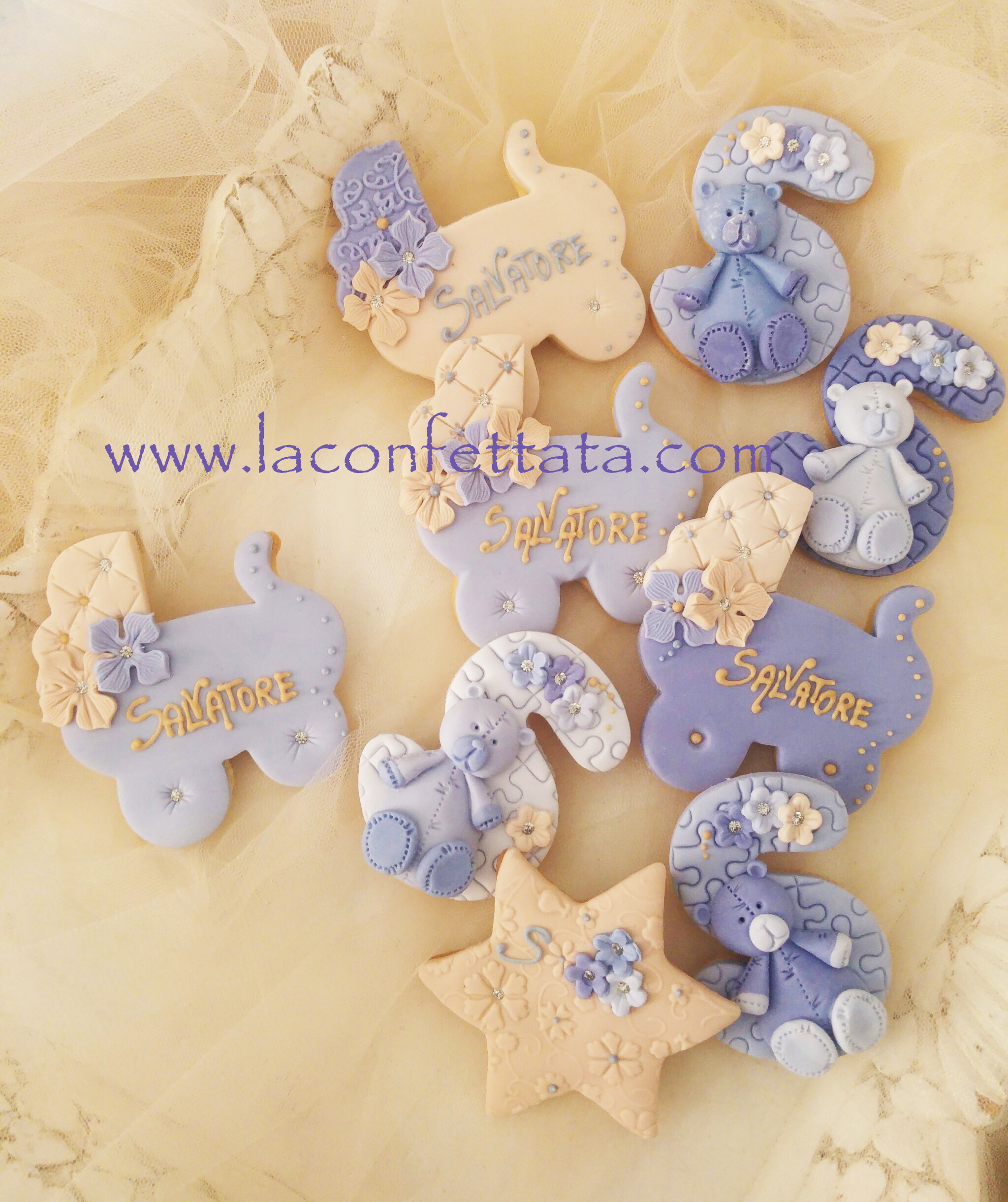 Biscotti decorati segnaposto battesimo