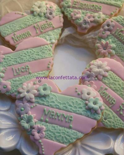 biscotti-decorati-battesimo-cuore-rosa-verde