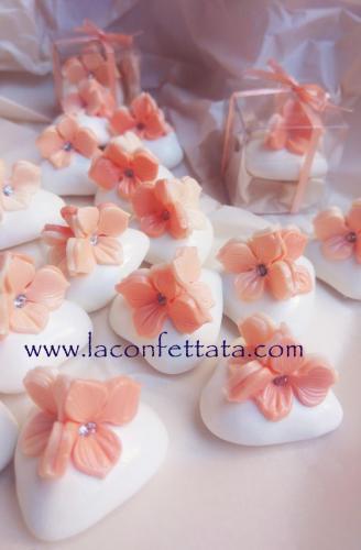 confetti decorati arancio