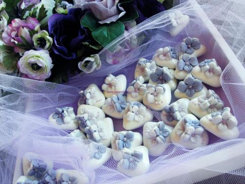 segnaposto confetti decorati glicine