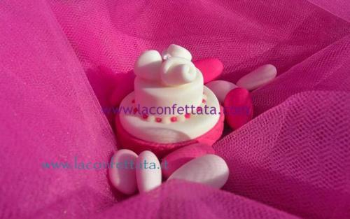 mini-cake-matrimonio-segnaposto-fucsia-rose-strass