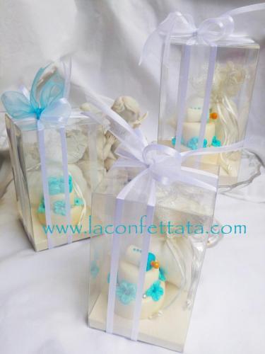 mini cakes e sacchetto in scatola