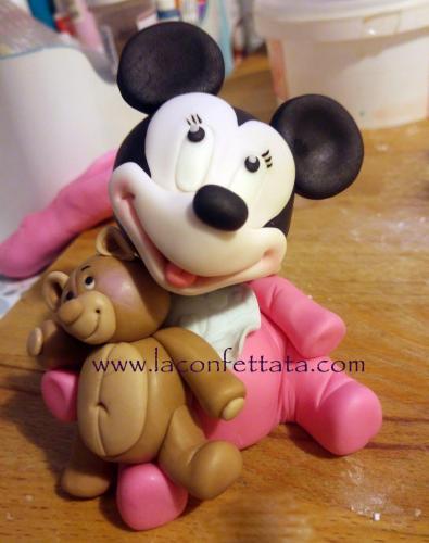 Minnie baby cake topper