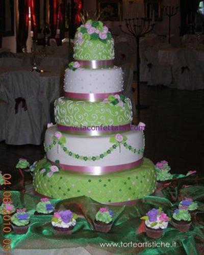 torta-matrimonio-5-piani-verde