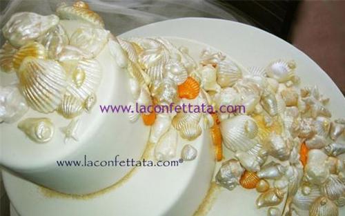 torta-matrimonio-bianca-conchiglie