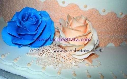 torta-matrimonio-bianca-decorazioni-rosa-particolare-rose