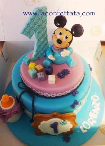 torta compleanno Topolino baby